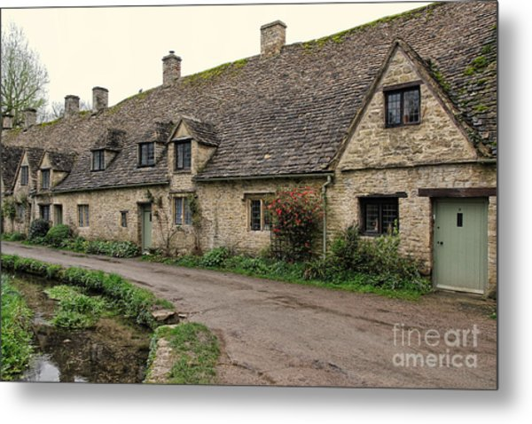 Pretty Cottages All In A Row Metal Print