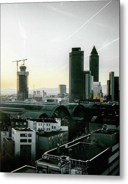 Pretty Dope View Over Frankfurt 😎 Metal Print