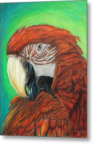 Pretty In Red Metal Print by Angela Finney