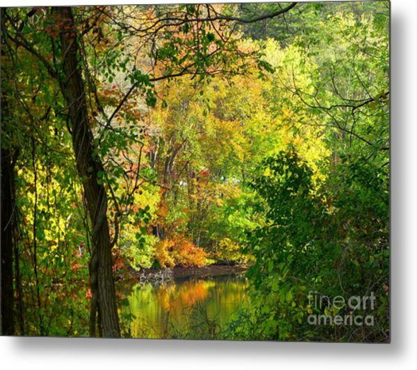 Prettyboy Of Autumn Metal Print