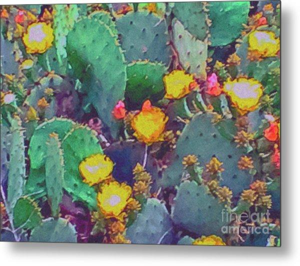 Prickly Pear Cactus 2 Metal Print