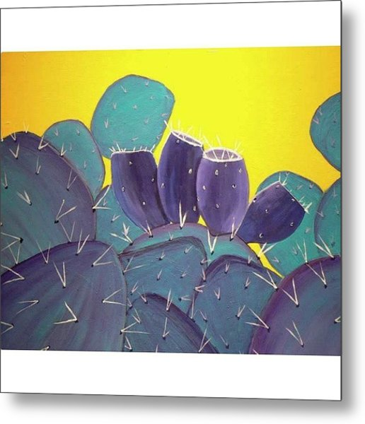 Prickly Pear With Metal Print