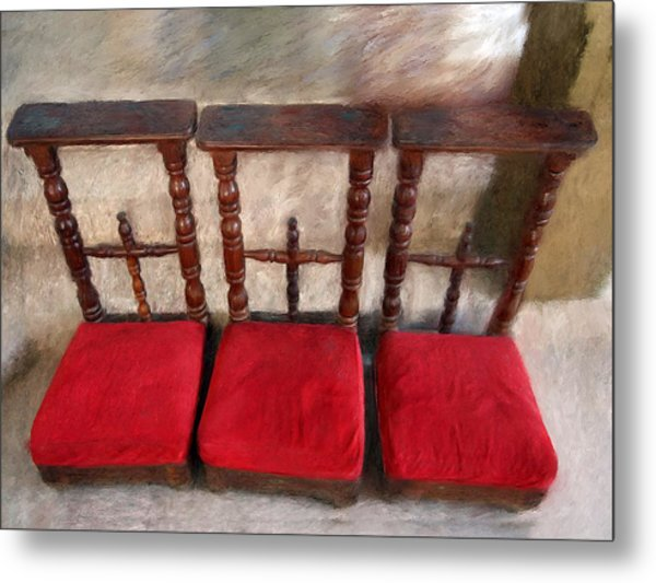 Prie Dieu - Prayer Kneeler Metal Print