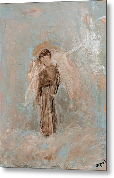 Priest Angel Metal Print