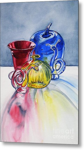 Primary Glass Metal Print