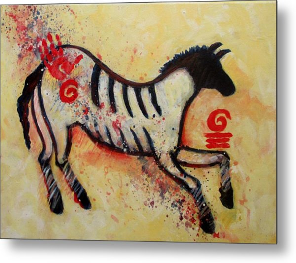 Primitive Little Horse Metal Print