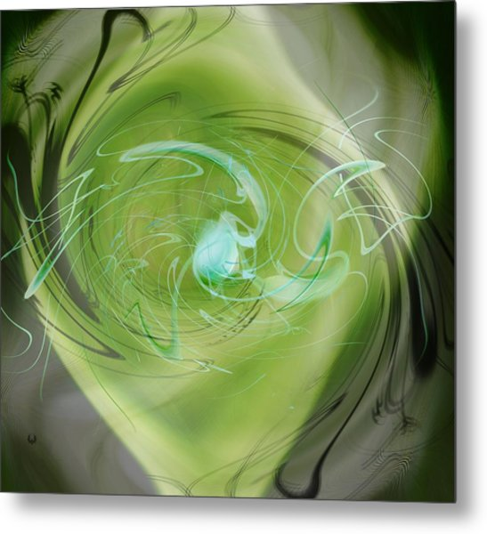 Metal Print featuring the digital art Primordial Soup Abstract by rd Erickson