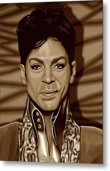 Prince 2 Gold Metal Print