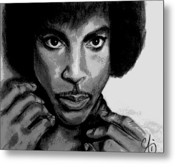 Prince Art - Pencil Drawing From Photography - Ai P. Nilson Metal Print