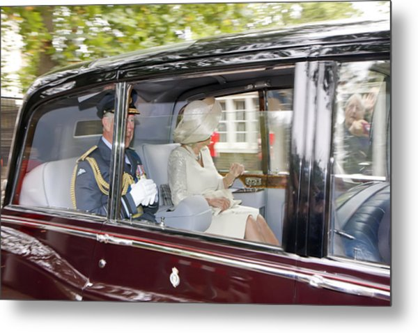 Prince Charles And Camilla Metal Print
