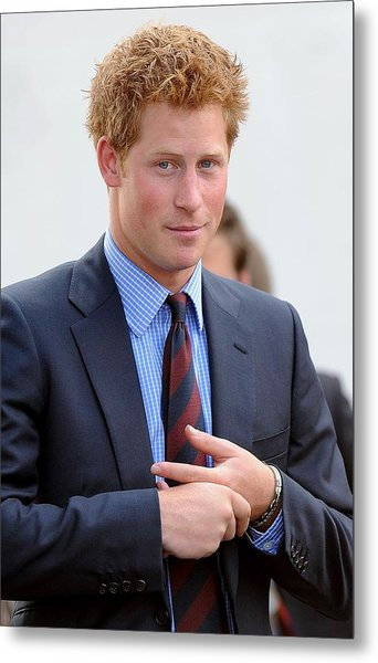 Prince Harry At A Public Appearance Metal Print by Everett