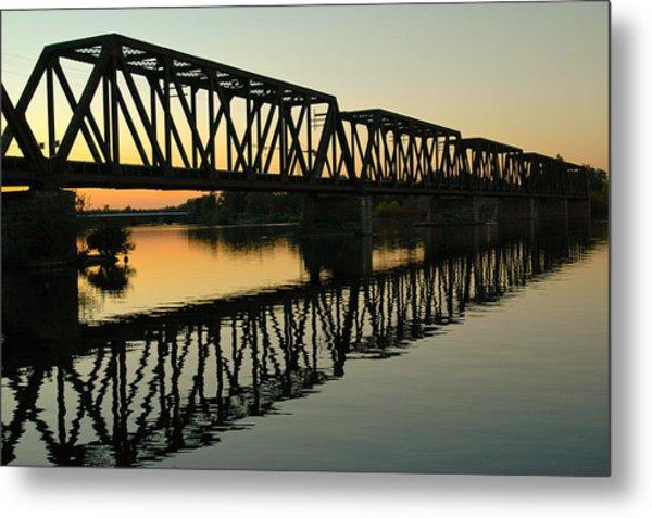 Prince Of Wales Bridge At Sunset. Metal Print