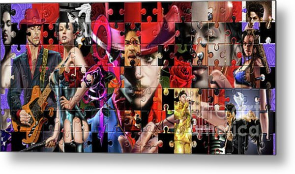 Prince Puzzle Of Missing Pieces 1 Metal Print