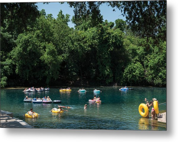 Prince Solms Park On The Comal River In New Braunfels Metal Print