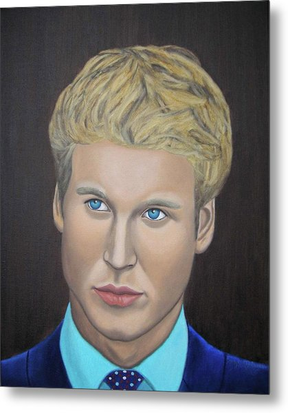 Prince William Portrait Paintings   Metal Print