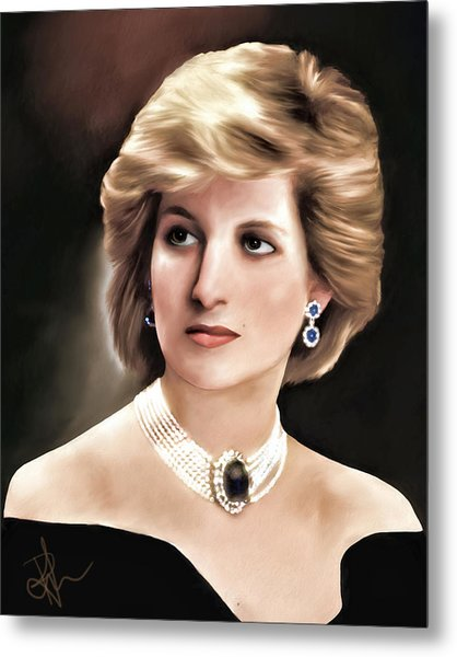 Princess Diana Metal Print