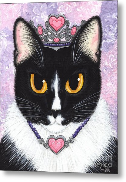 Princess Fiona -tuxedo Cat Metal Print