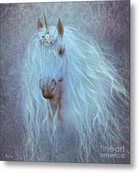 Princess Unicorn Metal Print