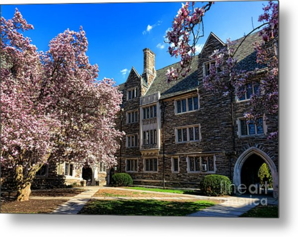 Metal Print featuring the photograph Princeton University Pyne Hall Courtyard by Olivier Le Queinec