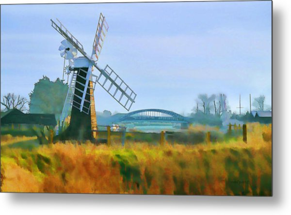 Priory Windmill Metal Print