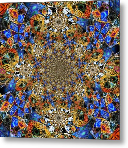 Prismatic Glasswork Metal Print