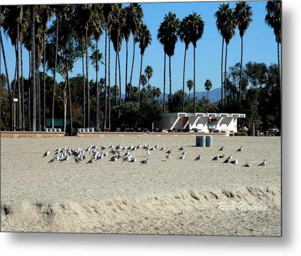 Private Beach Metal Print
