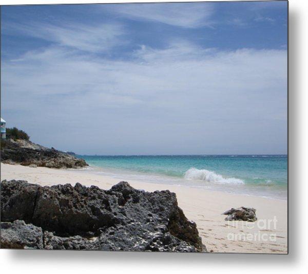 Private Bermuda Beach Metal Print by PJ  Cloud