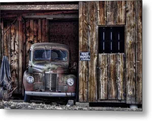 Private Parking Metal Print
