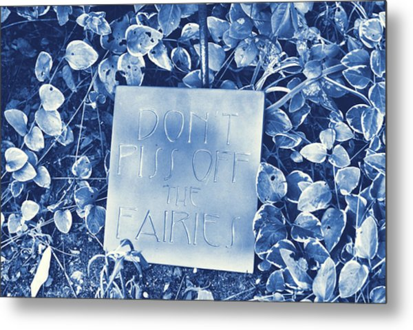 Proceed With Caution Metal Print by JAMART Photography