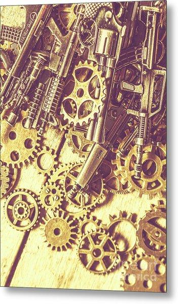 Process Of Strategic Battle Metal Print