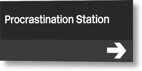 Procrastination Station- Art By Linda Woods Metal Print