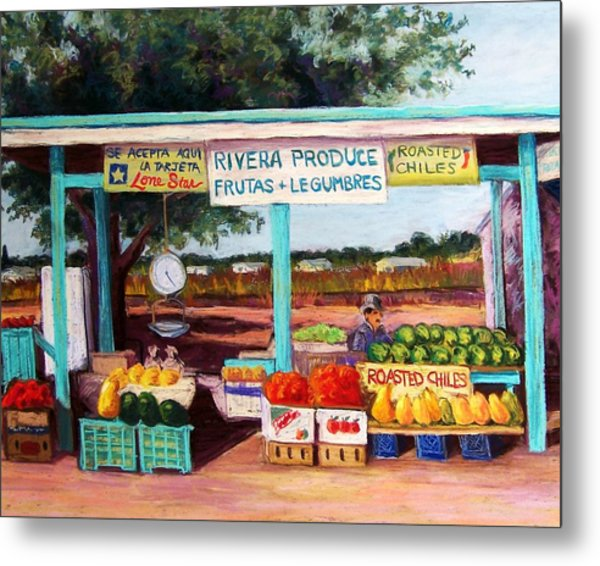 Produce Stand Metal Print by Candy Mayer