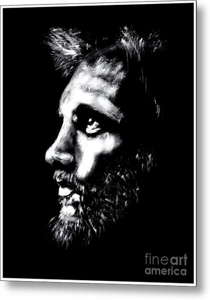 Profile Sketch Metal Print