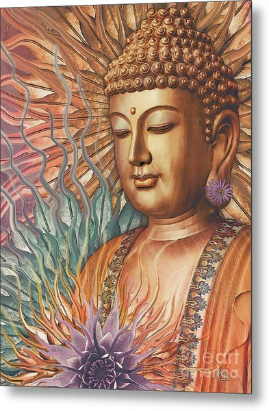 Proliferation Of Peace - Buddha Art By Christopher Beikmann Metal Print