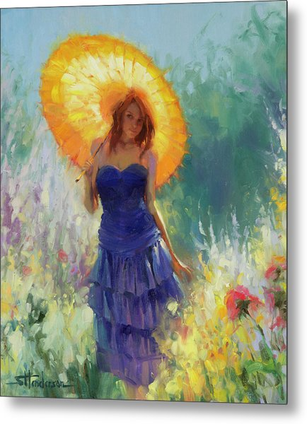 Metal Print featuring the painting Promenade by Steve Henderson