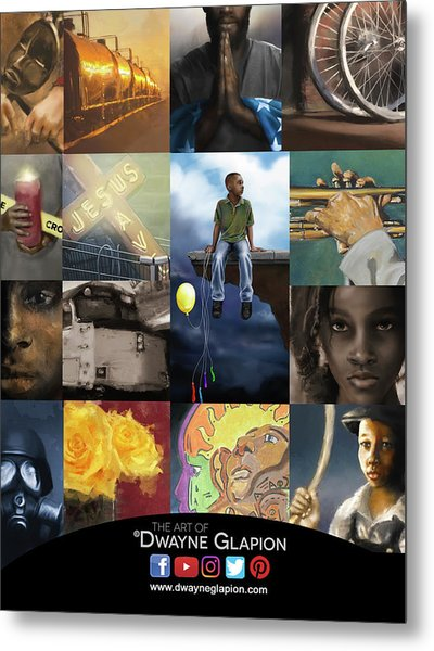 Metal Print featuring the digital art Promotional 01 by Dwayne Glapion