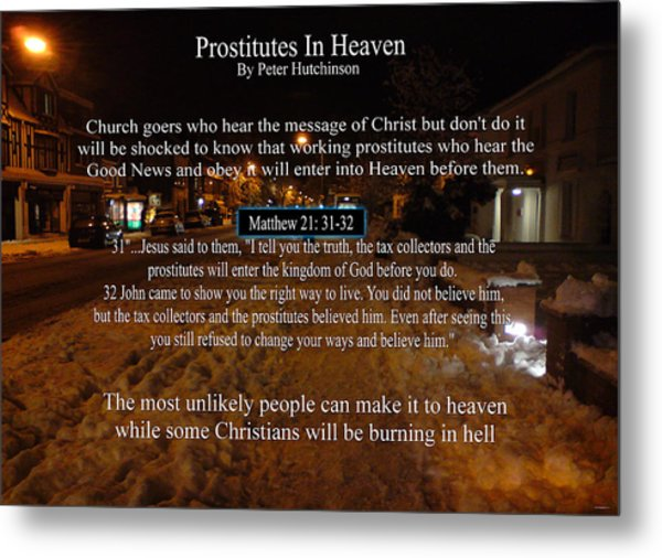 Prostitutes In Heaven Metal Print