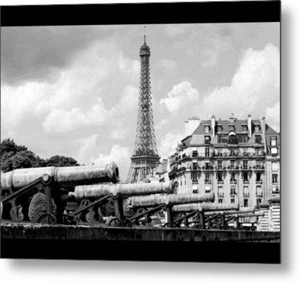 Protecting Paris Metal Print by Don Wolf