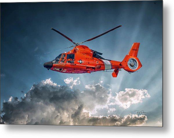 Protecting The Coast Metal Print