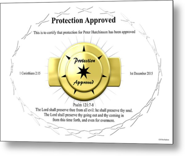 Protection Approved Metal Print