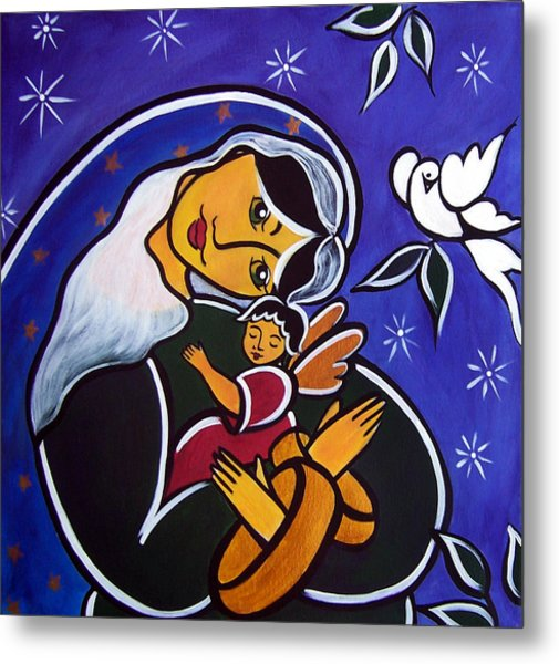 Metal Print featuring the painting Protector Of The Innocents by Jan Oliver-Schultz