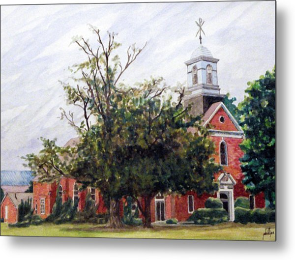 Protestant Chapel At Usmc Camp Lejeune Metal Print