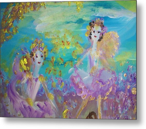 Proud Fairies Keep On Rolling Metal Print