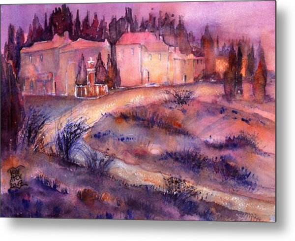 Provence France Country Estate Metal Print
