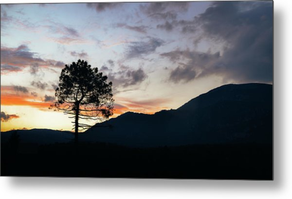 Provence, France Sunset Metal Print