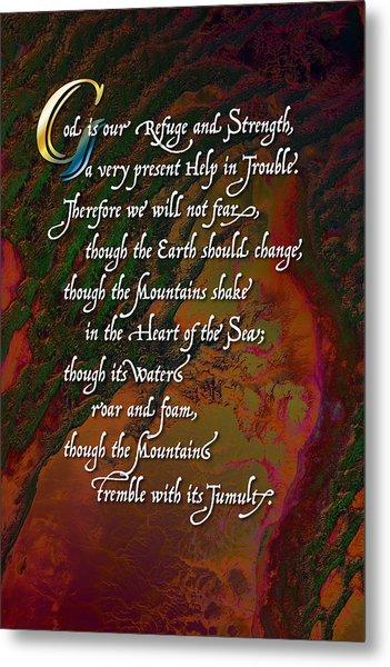Psalm 46 Metal Print