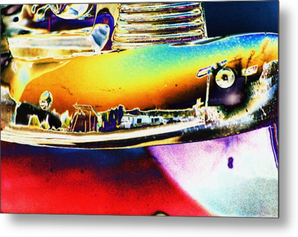Psychedelic Chevy Bumper Metal Print by Richard Henne