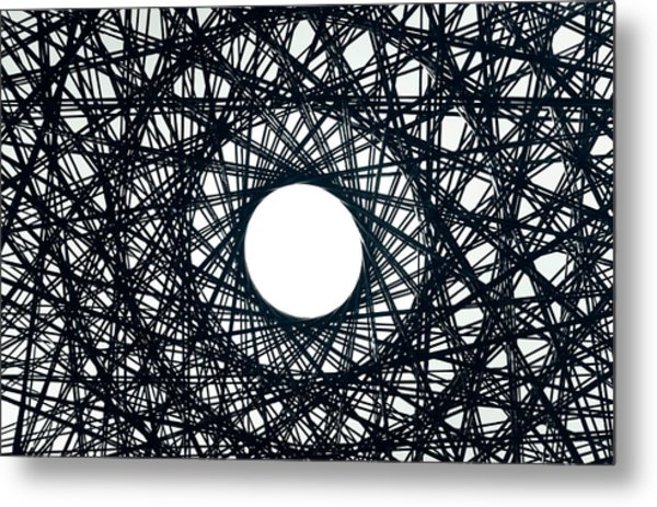 Psychedelic Concentric Circle Metal Print