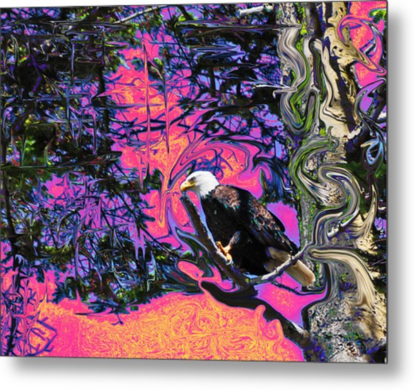 Psychedelic Eagle Metal Print by Wilbur Young