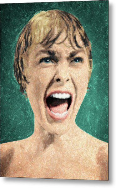 Psycho Shower Scene Metal Print